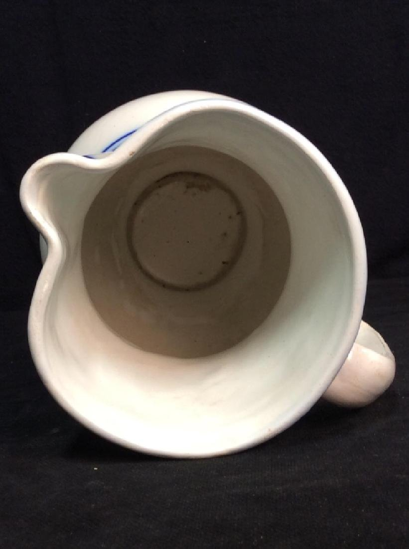 Blue And White Ceramic Pitcher - 7