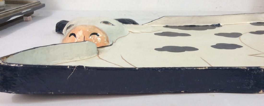 Faux Paper Mache Cow Tray - 2