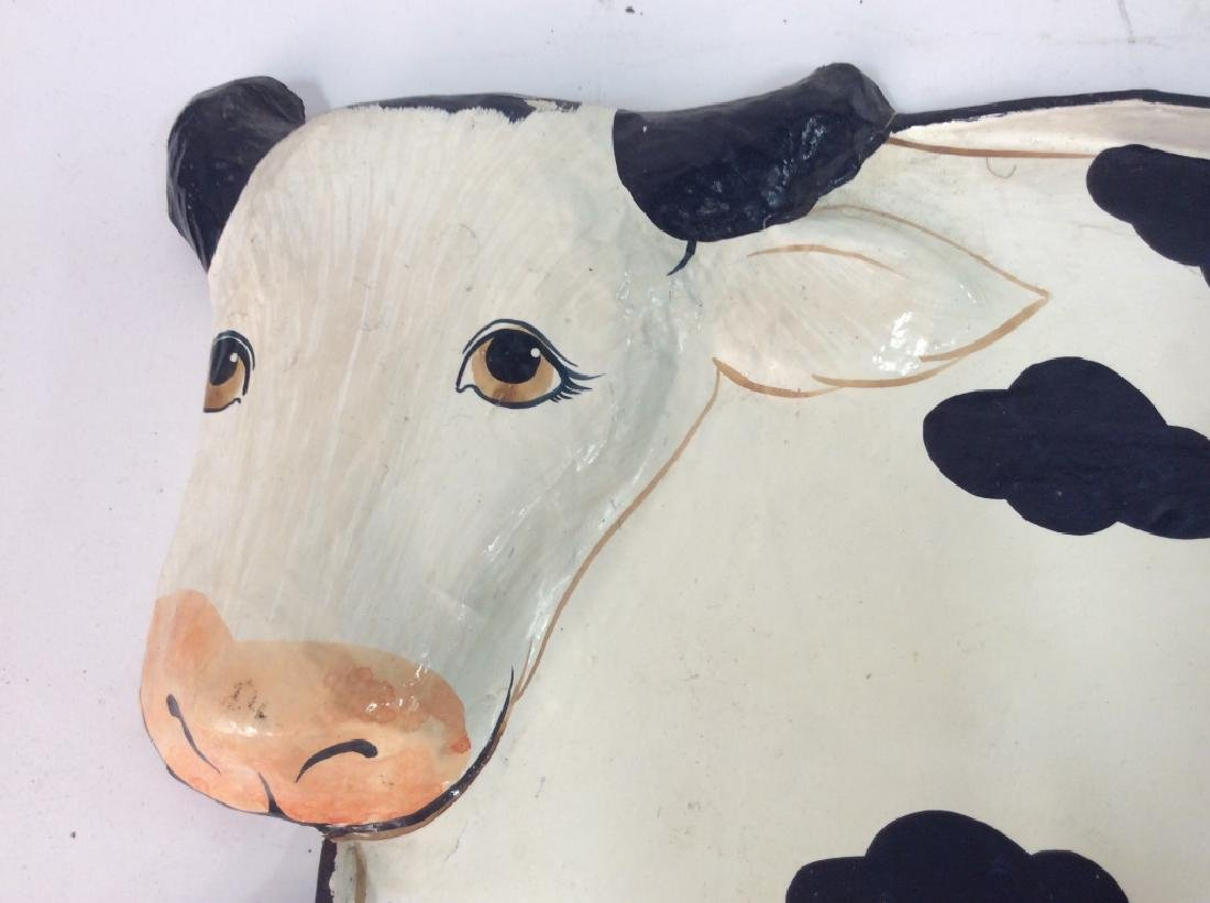 Faux Paper Mache Cow Tray - 5