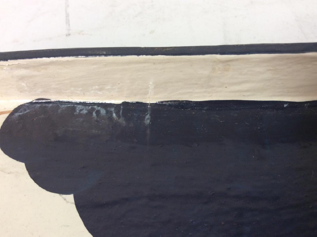 Faux Paper Mache Cow Tray - 7
