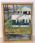 Framed Modernist Landscape Artwork