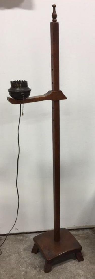 Vintage Wooden Adjustable Floor Lamp