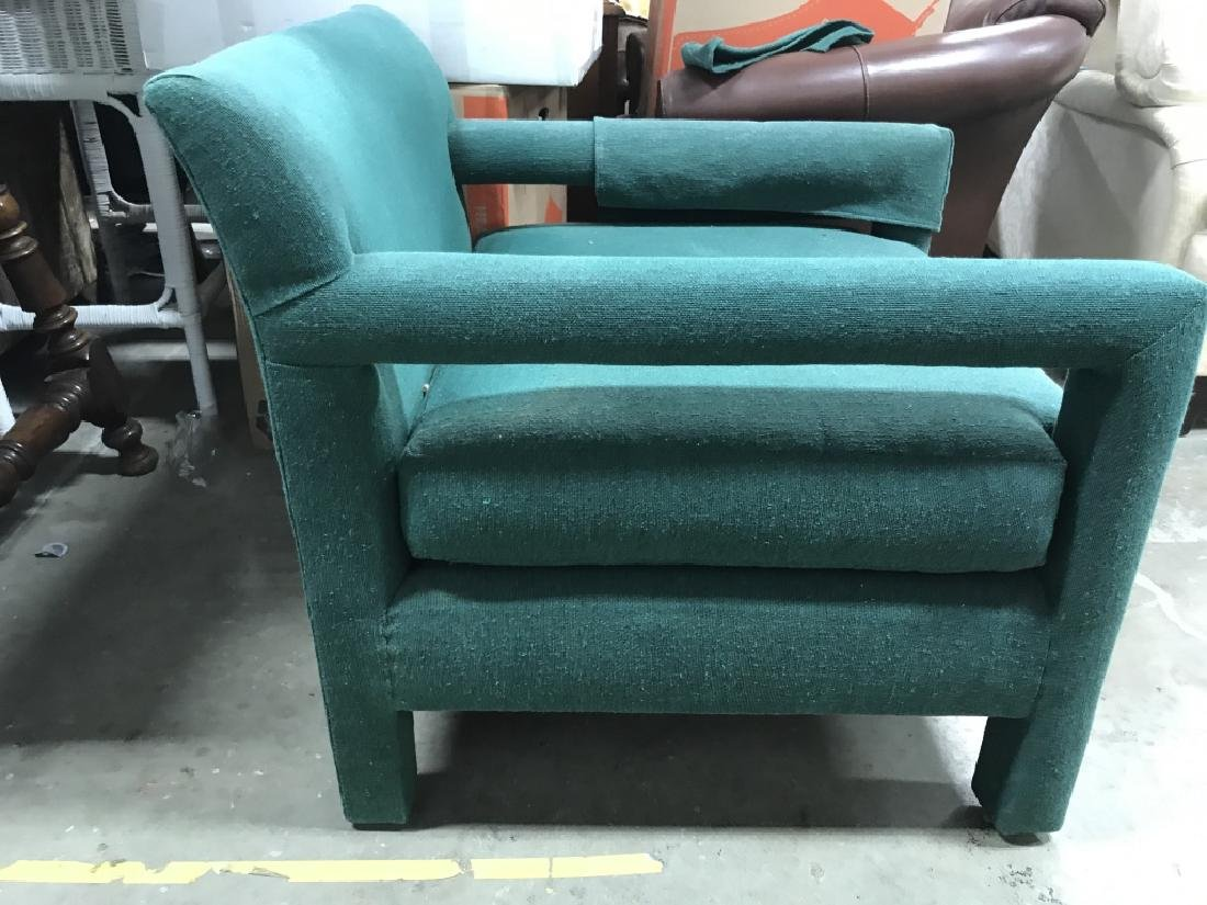 Vintage Upholstered Green Toned Armchair - 4