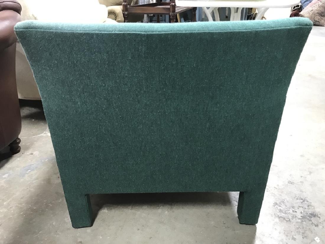 Vintage Upholstered Green Toned Armchair - 5