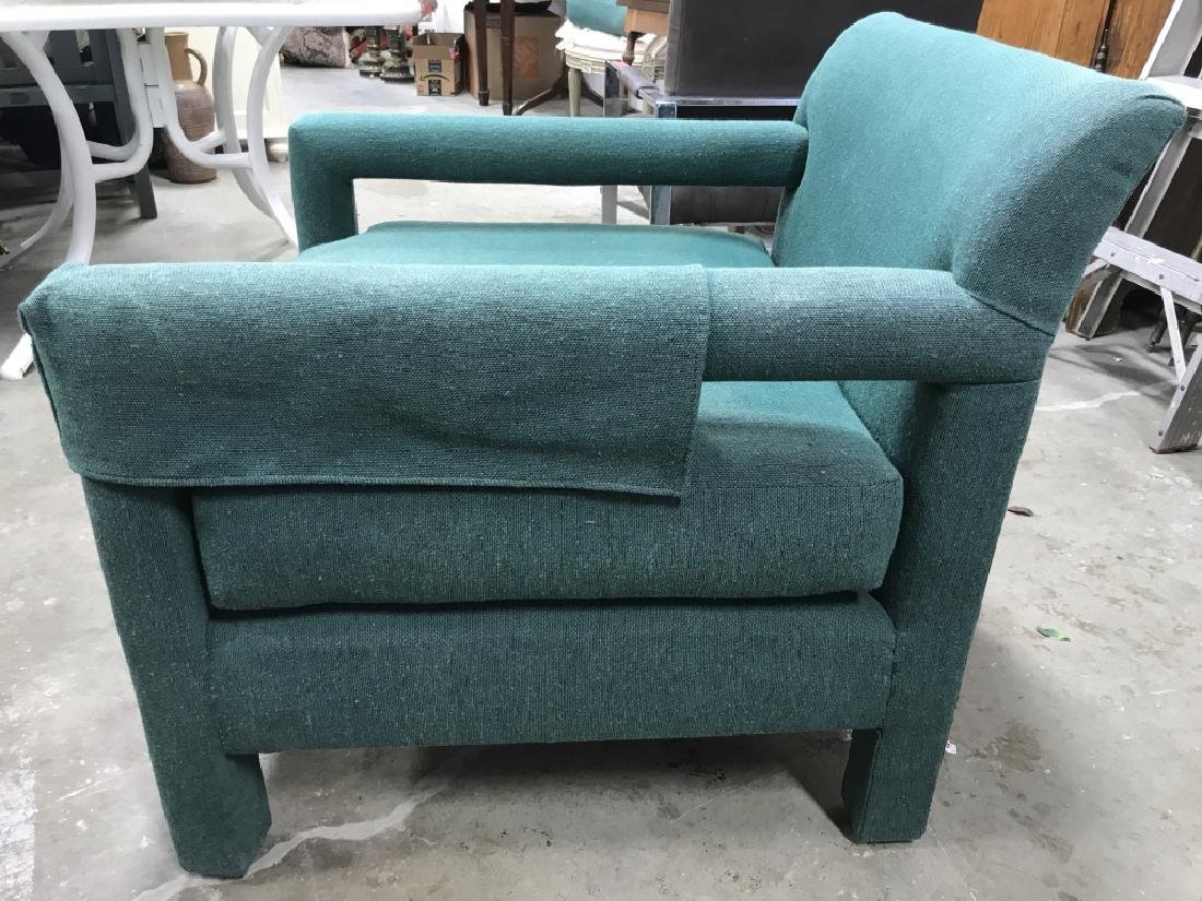 Vintage Upholstered Green Toned Armchair - 6