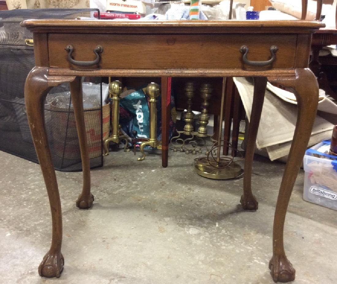 Queen Anne Style Side Table - 3