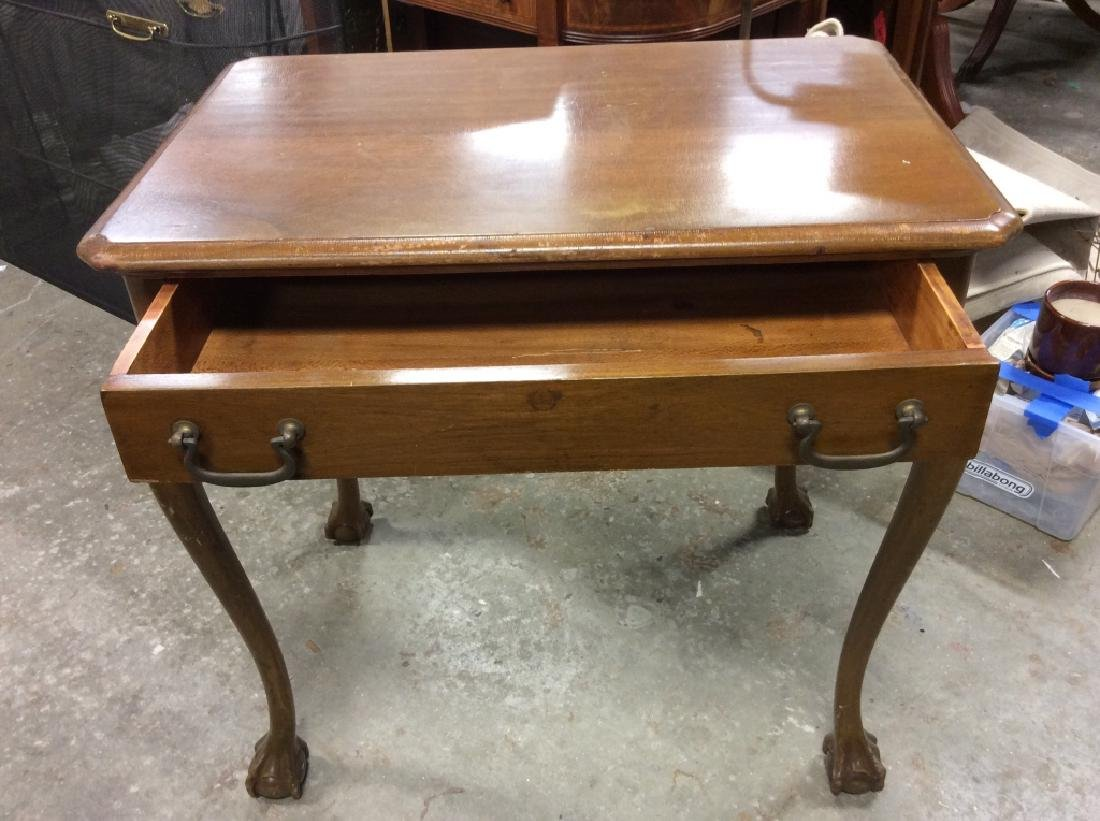 Queen Anne Style Side Table - 4
