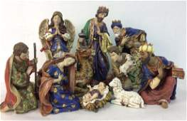ROMAN INC 10piece Polyresin Nativity Set