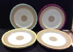 Set 8 Antique Royal Worcester Porcelain Plates