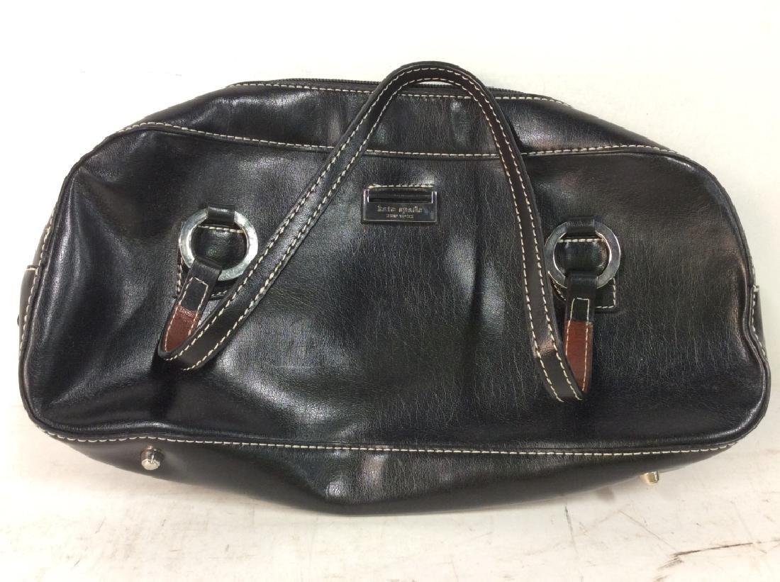 KATE SPADE Black Toned Faux Leather Purse