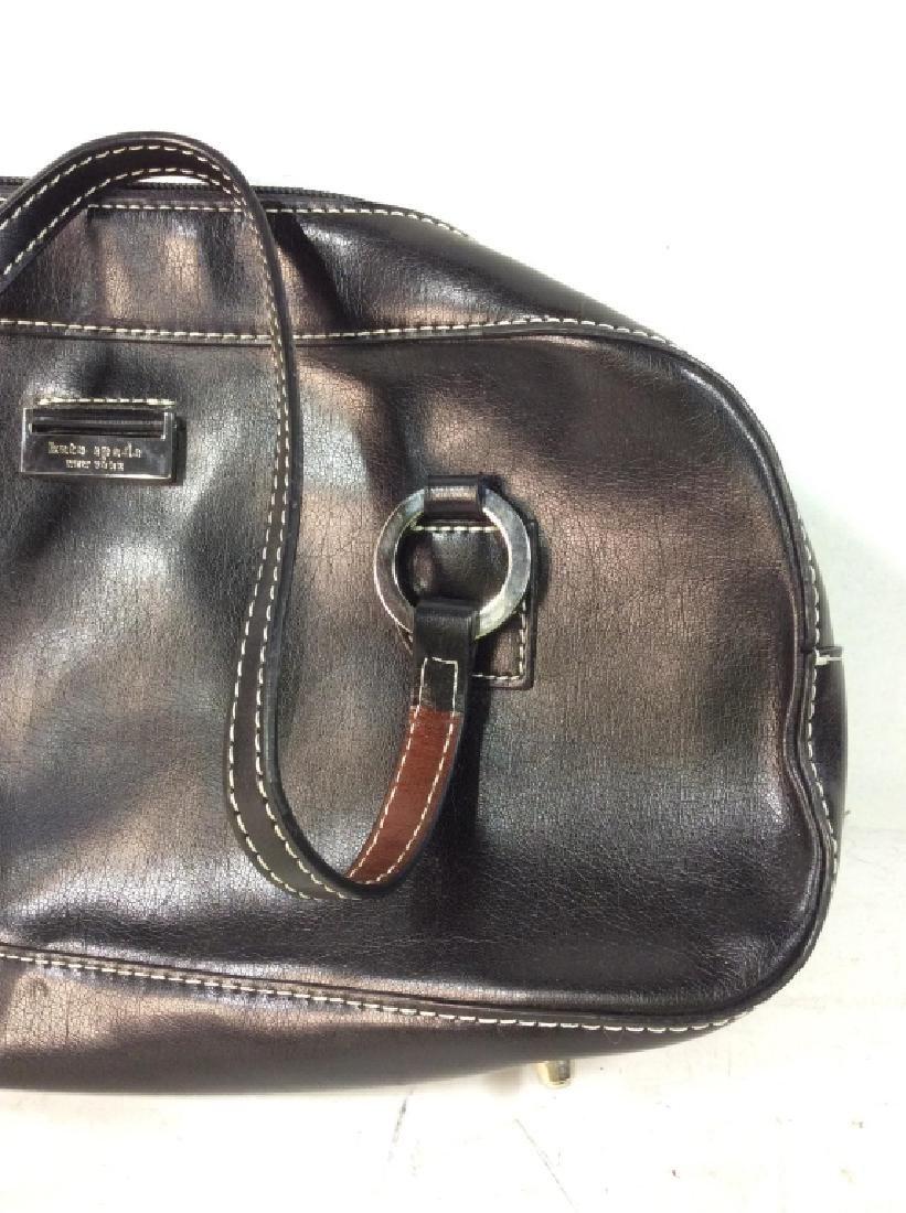 KATE SPADE Black Toned Faux Leather Purse - 3