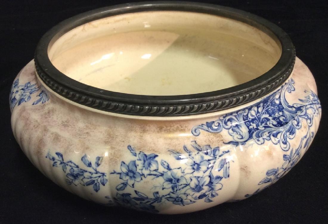 DOLTON BURSLEM Ceramic Fruit Bowl W Floral Motif