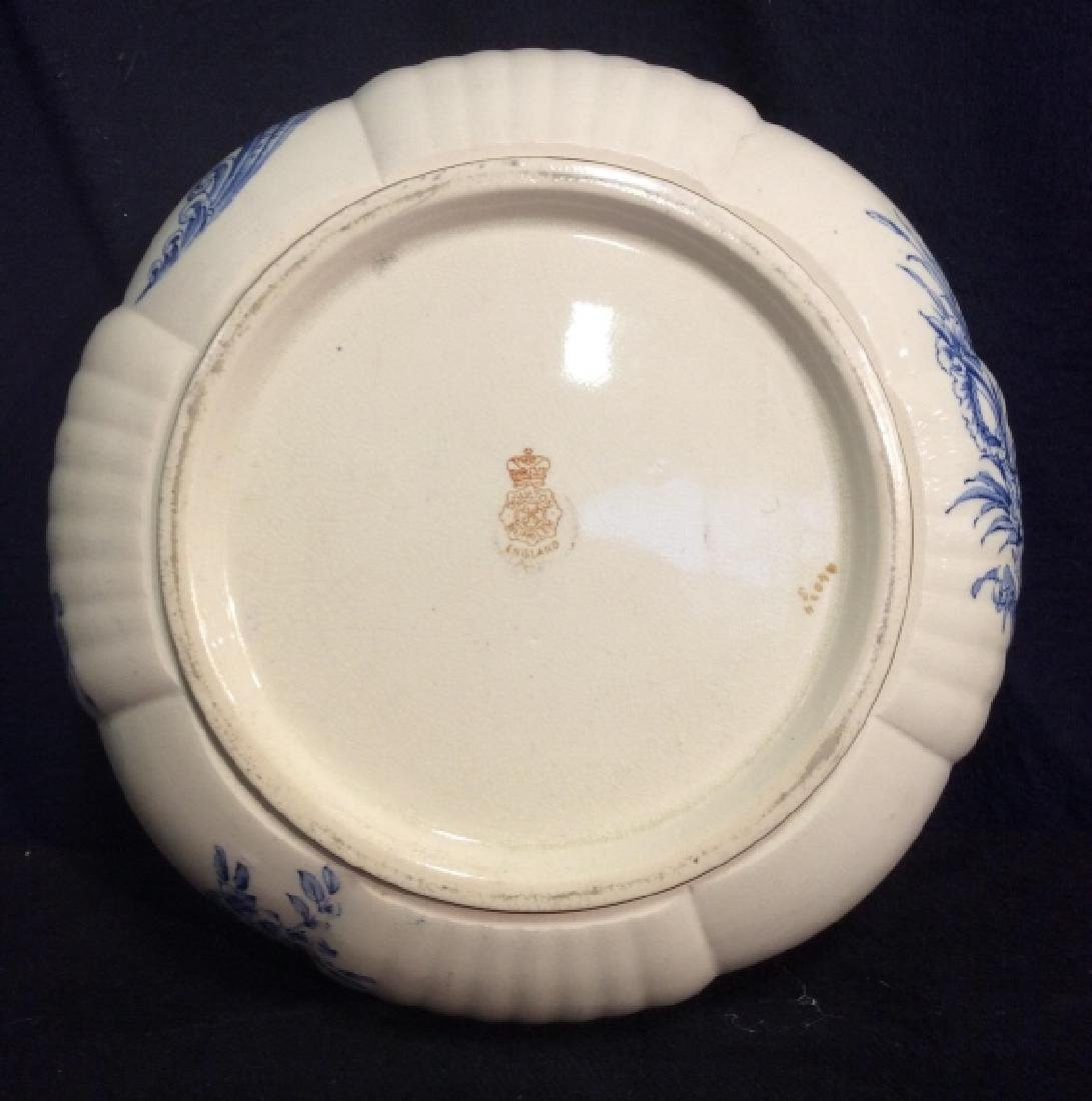 DOLTON BURSLEM Ceramic Fruit Bowl W Floral Motif - 4