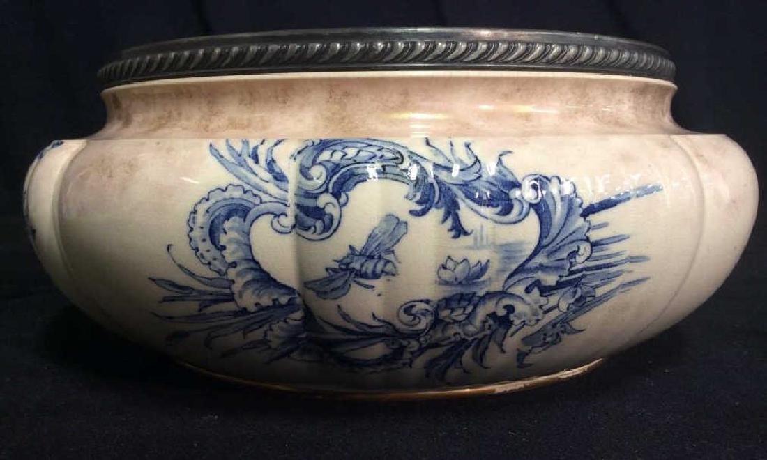 DOLTON BURSLEM Ceramic Fruit Bowl W Floral Motif - 7