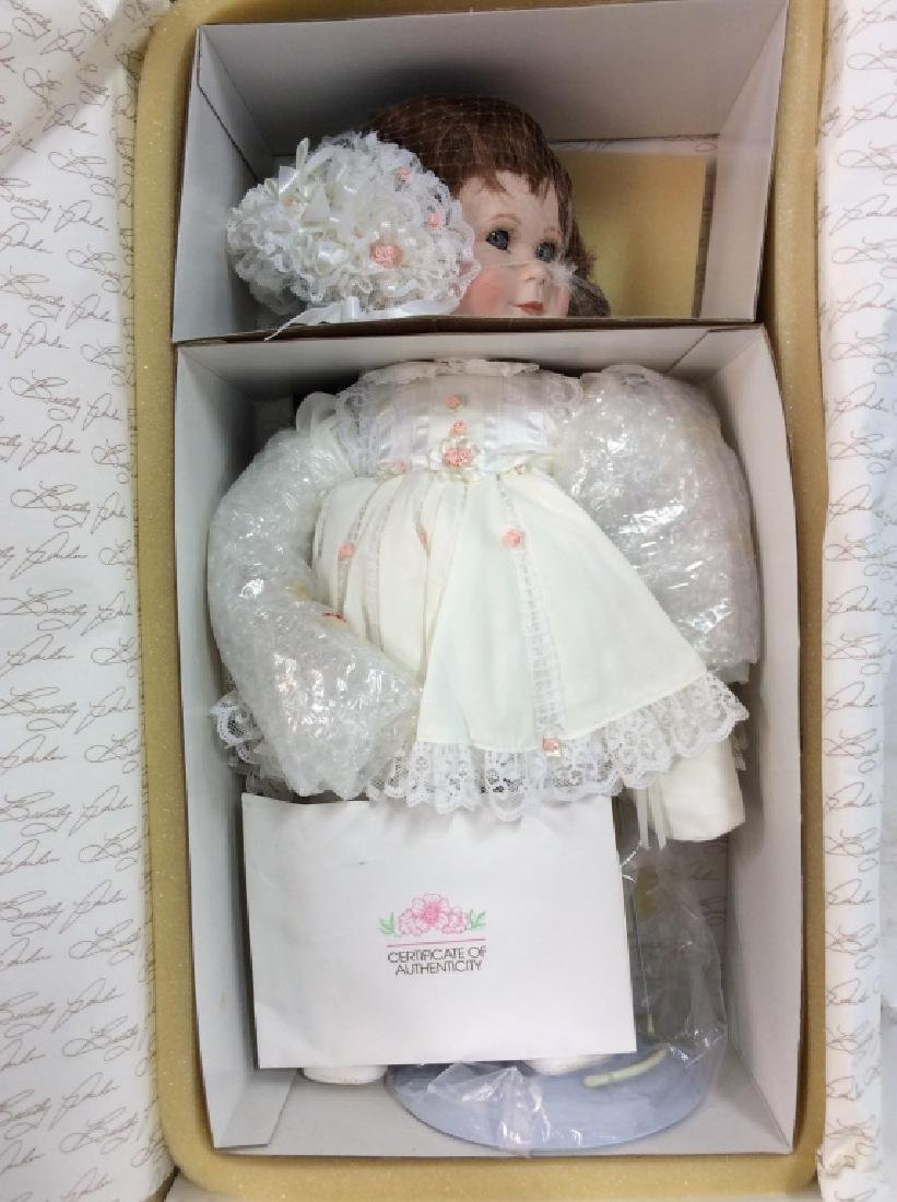 WORLD GALLERY Two Collectible Porcelain Dolls