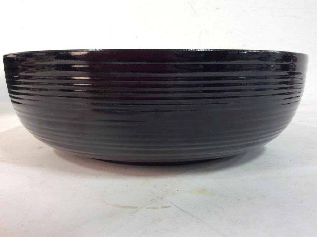 Set of 9 Black and Red Lacquer Ware Trays Bowl - 8