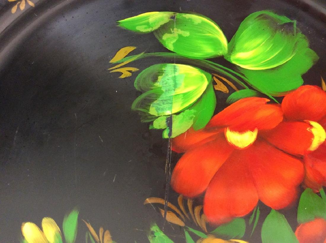 Group of 3 Decorative Metal Serving  Trays - 10