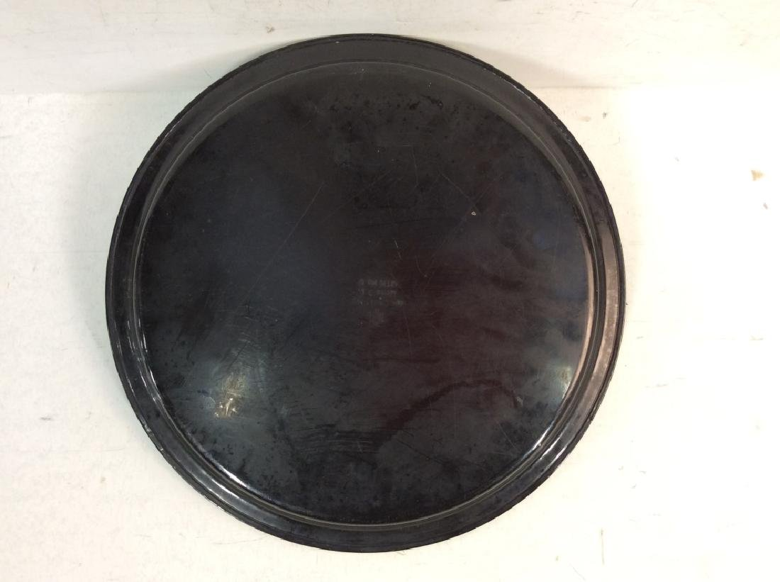 Group of 3 Decorative Metal Serving  Trays - 8