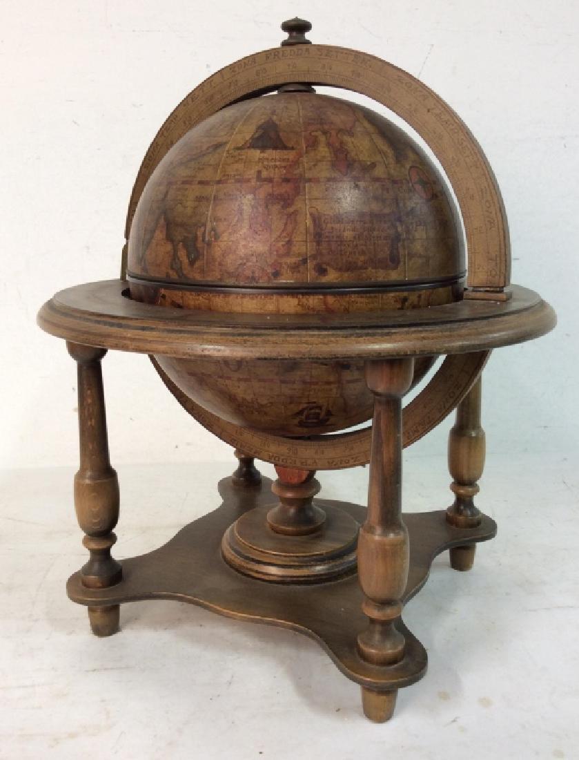 OLDE WORLD GLOBE Vintage Style Globe & Ice Bucket