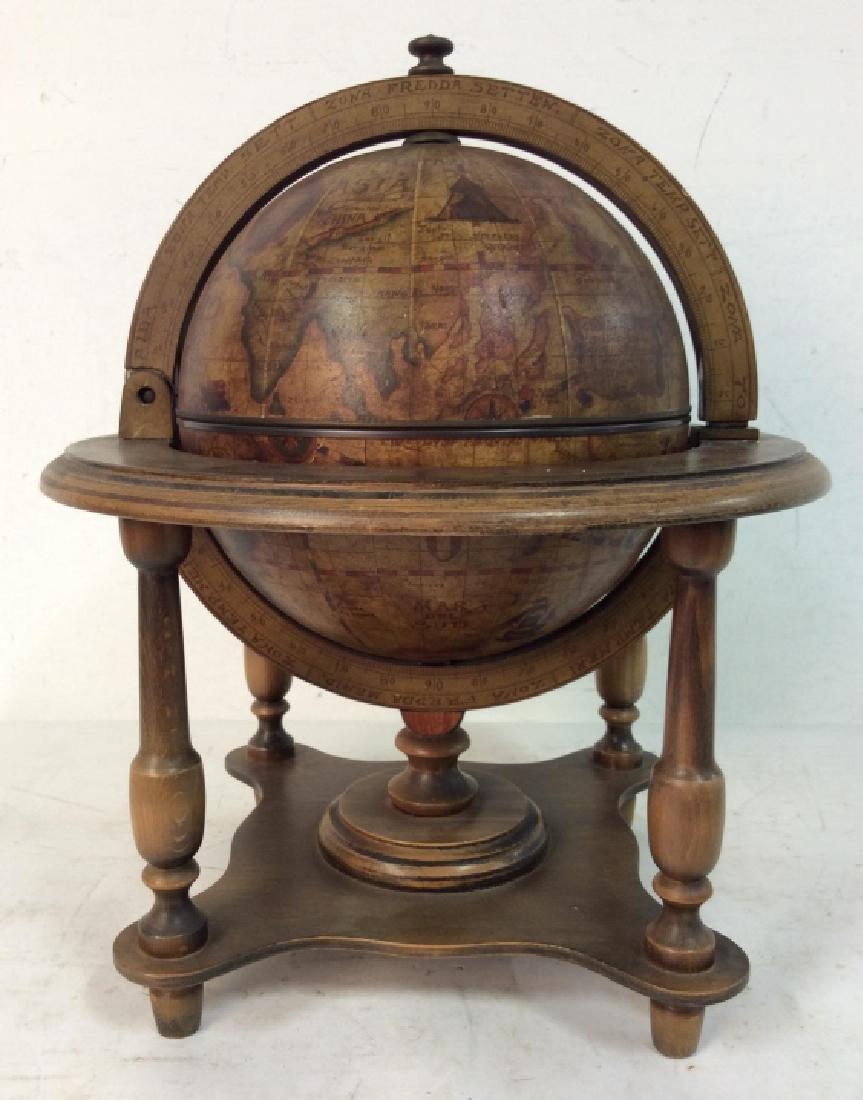 OLDE WORLD GLOBE Vintage Style Globe & Ice Bucket - 2