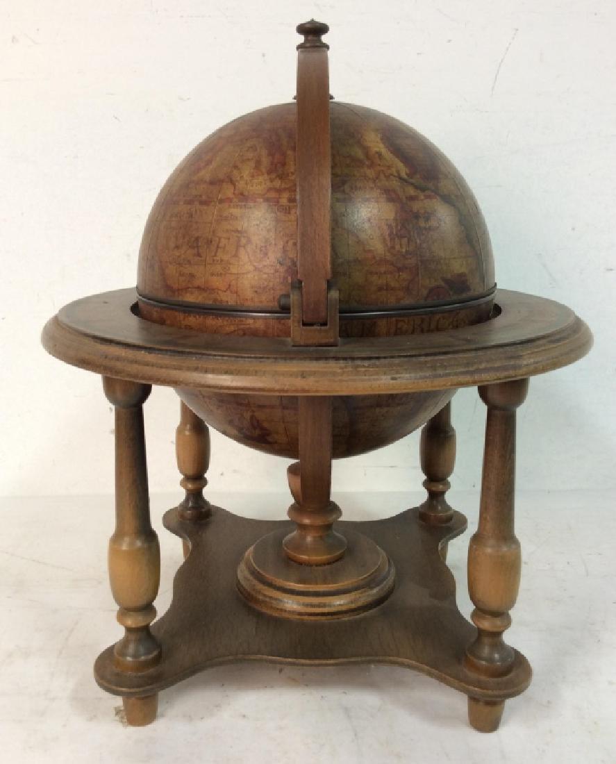 OLDE WORLD GLOBE Vintage Style Globe & Ice Bucket - 3