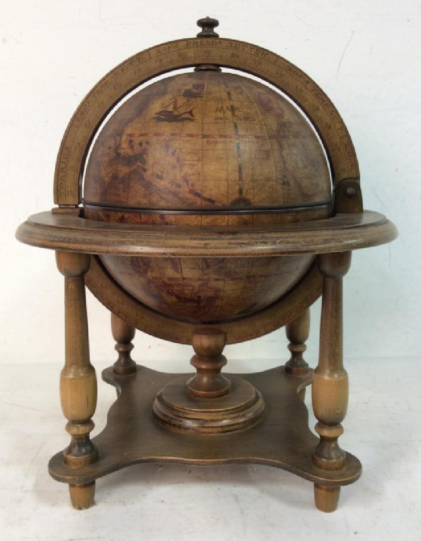 OLDE WORLD GLOBE Vintage Style Globe & Ice Bucket - 4