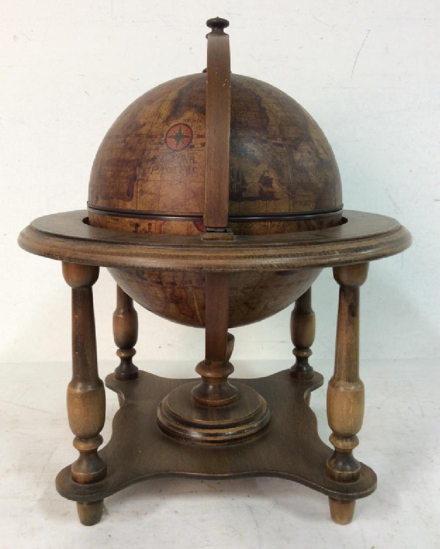 OLDE WORLD GLOBE Vintage Style Globe & Ice Bucket - 5