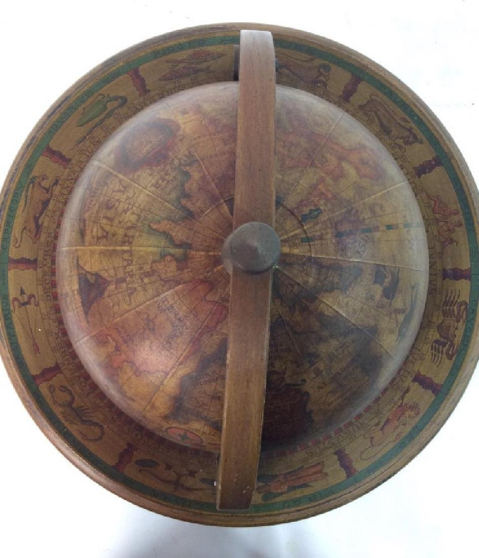 OLDE WORLD GLOBE Vintage Style Globe & Ice Bucket - 6