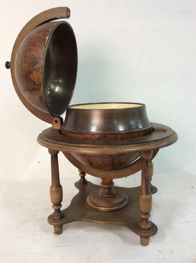 OLDE WORLD GLOBE Vintage Style Globe & Ice Bucket - 9