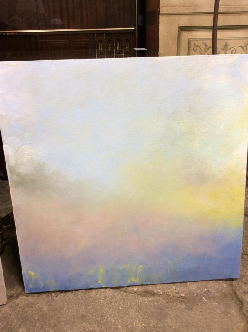 Pair Abstract Pastel Skyscape Paintings - 2