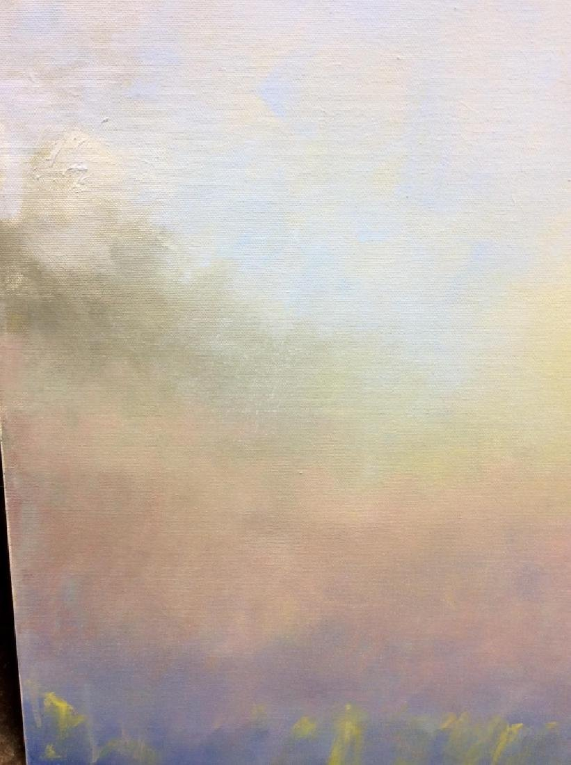 Pair Abstract Pastel Skyscape Paintings - 3