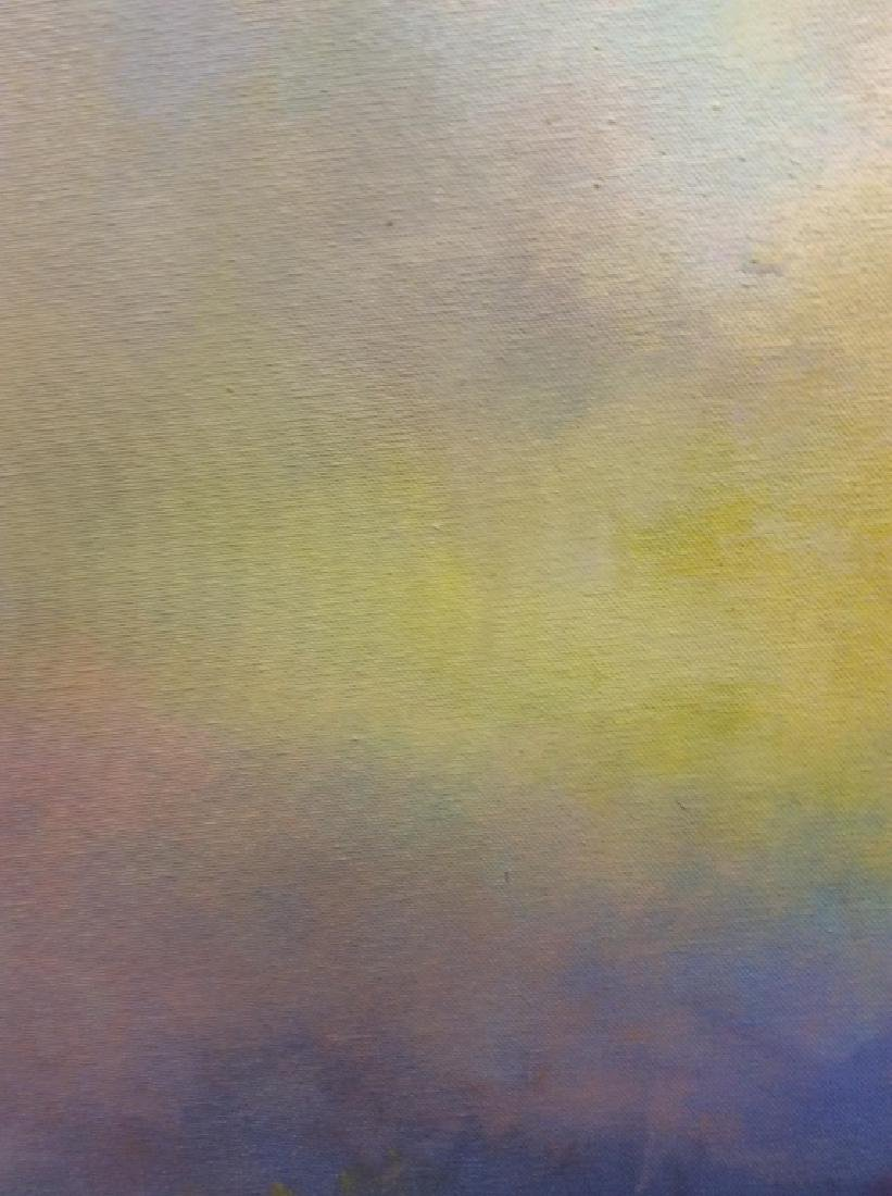 Pair Abstract Pastel Skyscape Paintings - 4