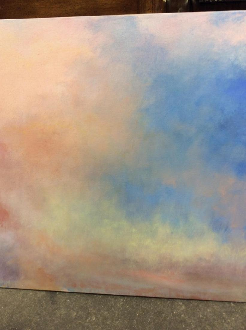 Pair Abstract Pastel Skyscape Paintings - 5