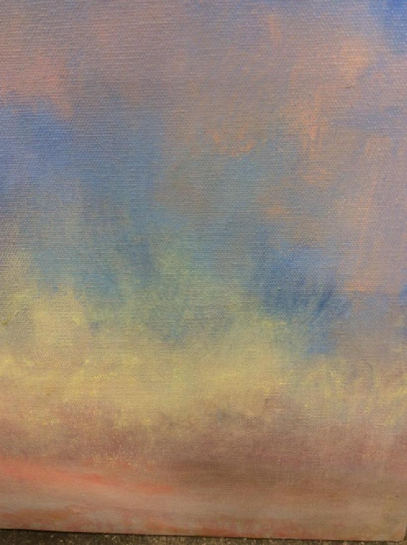 Pair Abstract Pastel Skyscape Paintings - 6