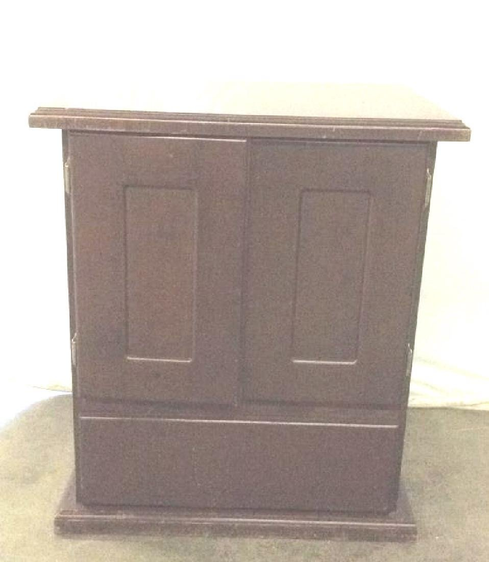 Brown Toned Wooden Chest W Drawer - 2