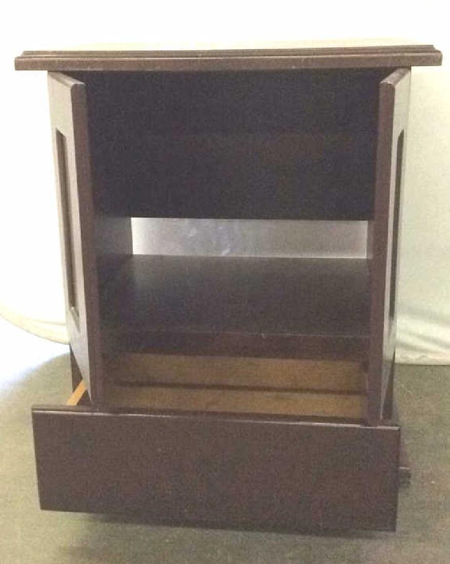 Brown Toned Wooden Chest W Drawer - 4