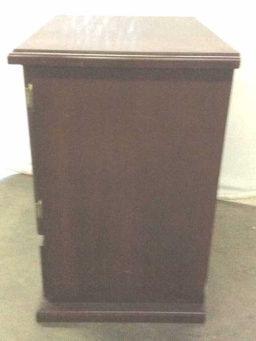 Brown Toned Wooden Chest W Drawer - 5