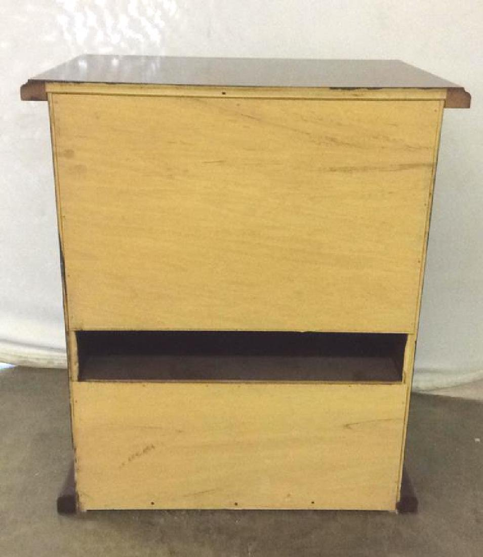 Brown Toned Wooden Chest W Drawer - 6