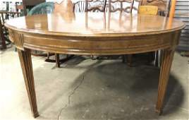Vintage Wooden Dining Table W Leaves