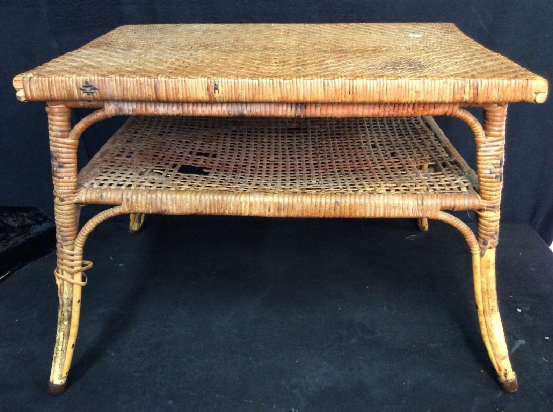 Caned Coffee Table