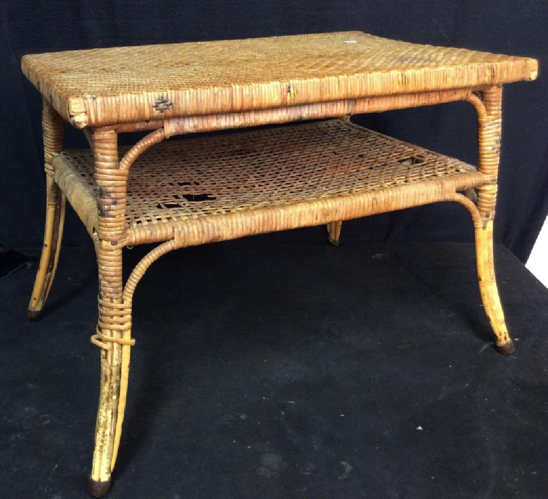 Caned Coffee Table - 3
