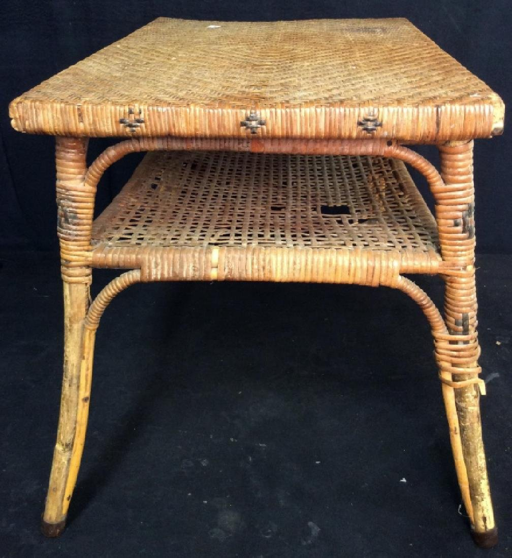 Caned Coffee Table - 6