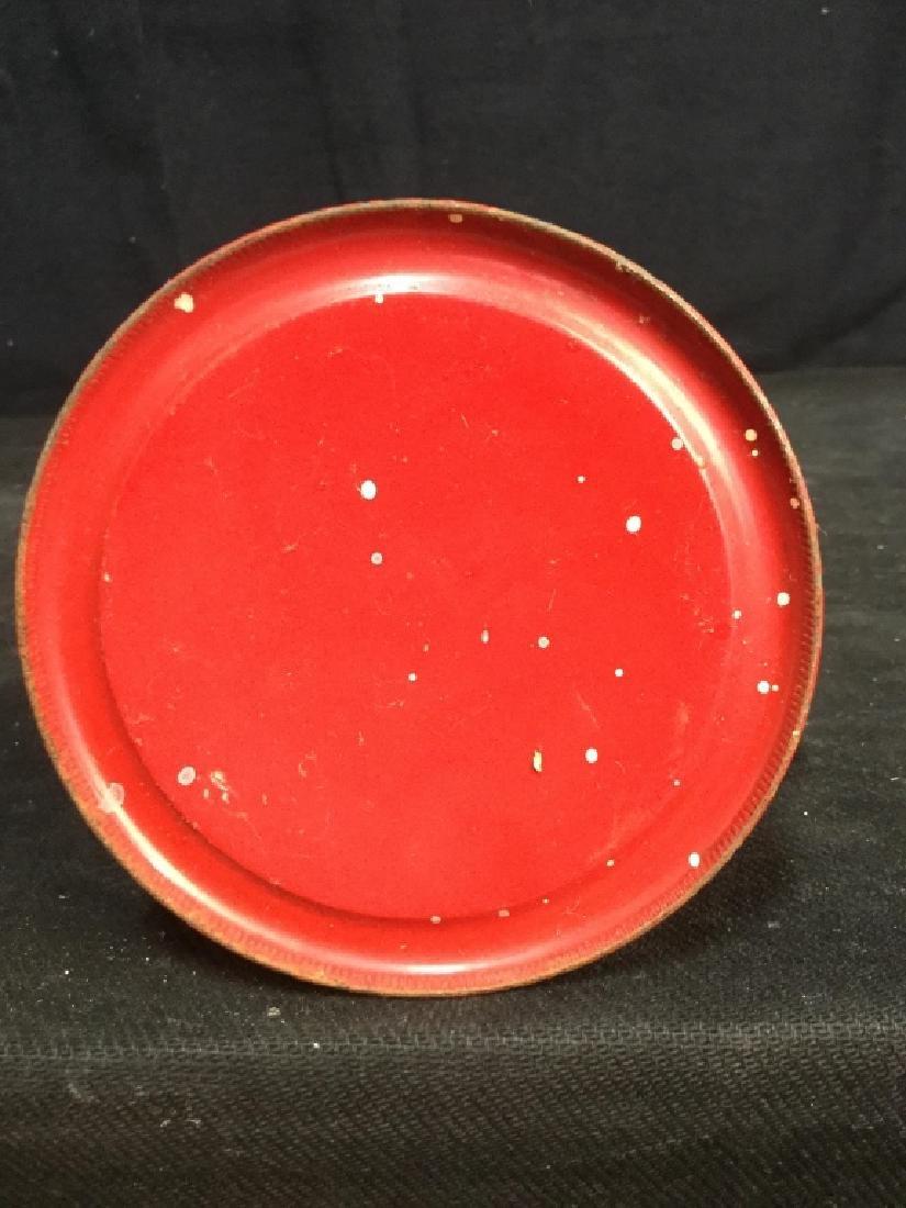Vintage Dietz Red Metal And Glass Lantern - 8