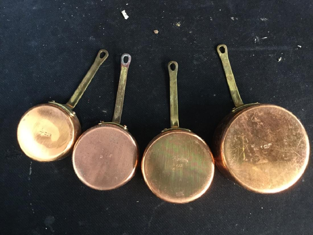 Group vintage Copper tone Kitchen Utensils - 5