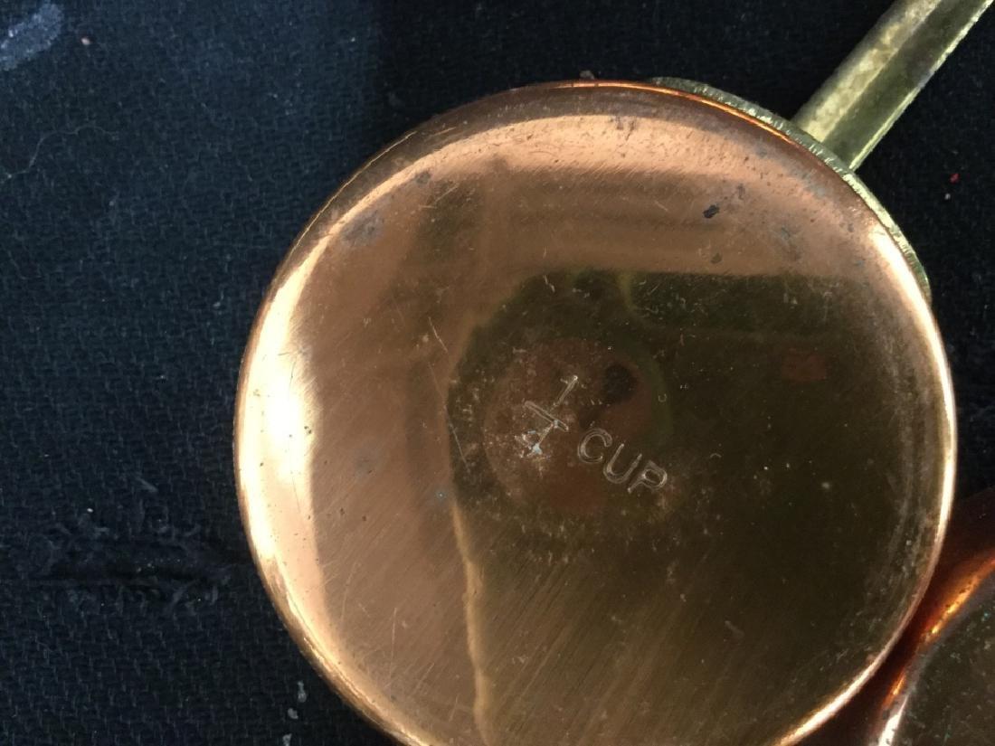 Group vintage Copper tone Kitchen Utensils - 6