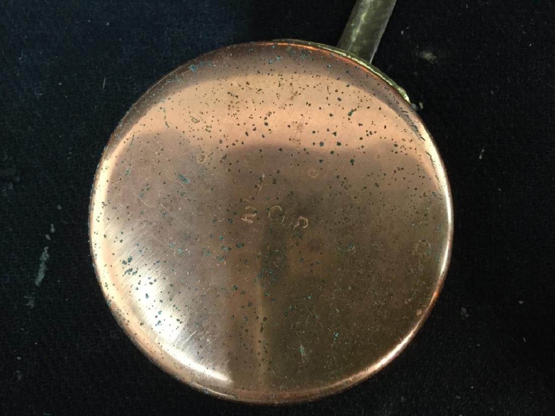 Group vintage Copper tone Kitchen Utensils - 7