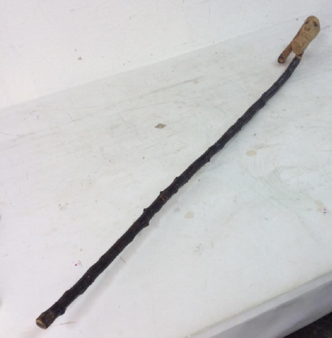 Vintage Carved Wood Walking Stick - 7