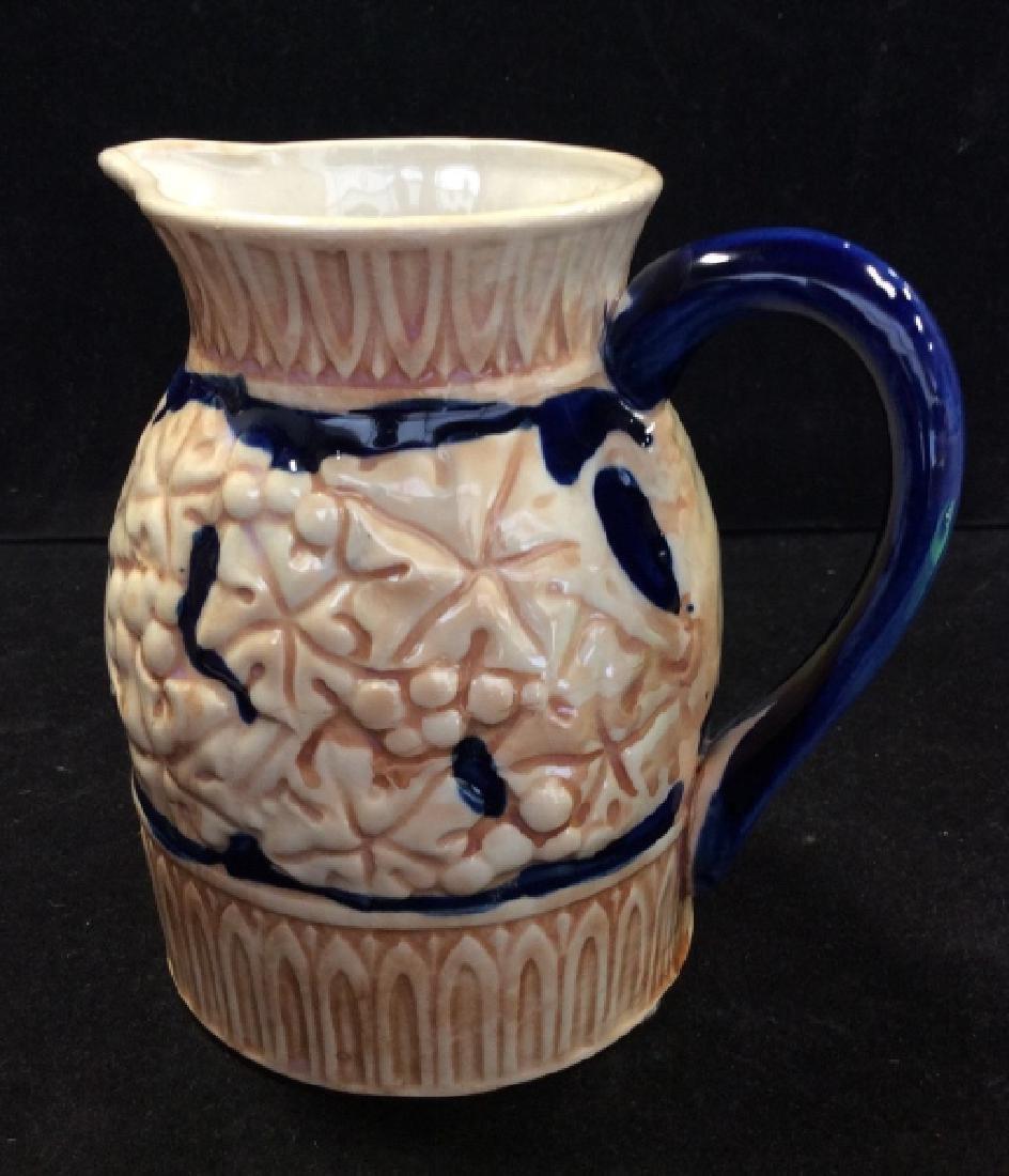 Japanese Glazed Ceramic Pitcher