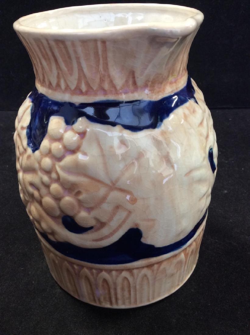 Japanese Glazed Ceramic Pitcher - 6