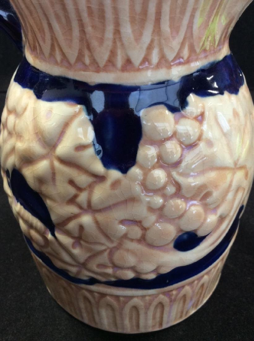 Japanese Glazed Ceramic Pitcher - 8